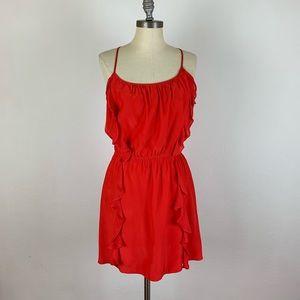 Parker Red Ruffle Dress